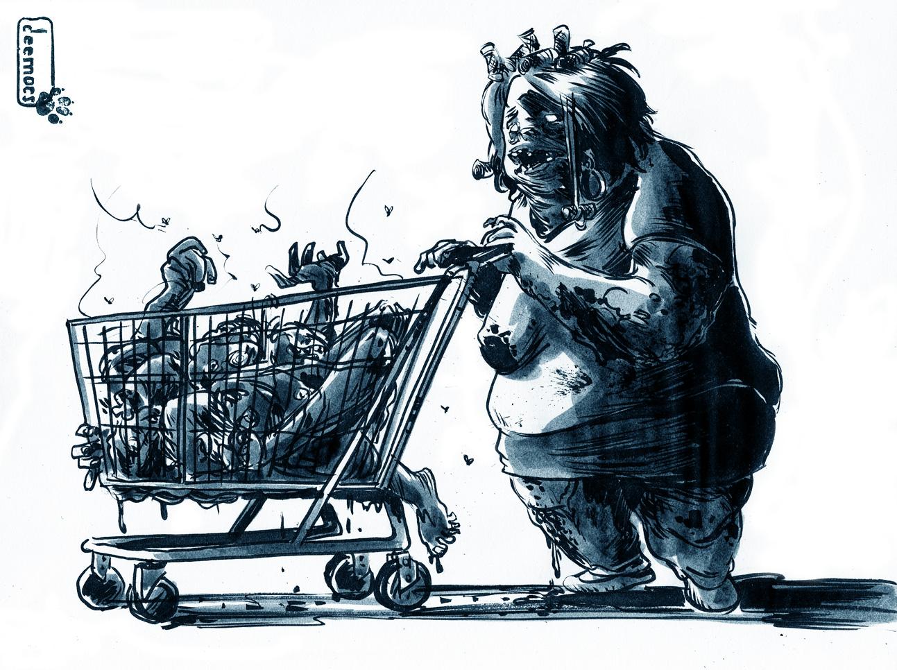 Zombi Gallery [ Fan-Arts] Zombiemarket